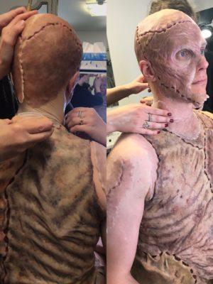 "Silicone body make-up for ""Frankenstein"" by Àlex Ollé from La Fura dels Baus. La Monnaie/ De Munt, Belgium 2019"