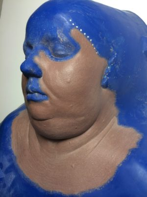 Fat boy prosthetic sculpture