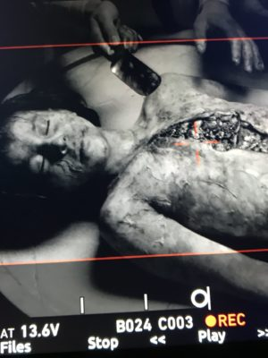 "Autopsy prosthetic make-up for ""La Vampira de Barcelona"". 2019"