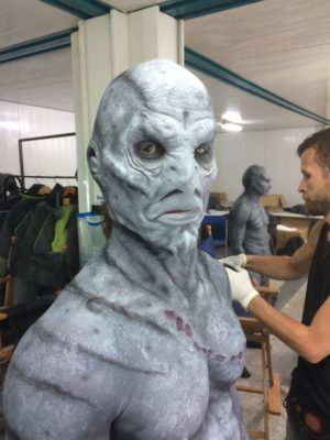 """Cold Skin"", prosthetic application & body make-up. Freelance make-up artist for Dharma Estudio. Lanzarote 2017"