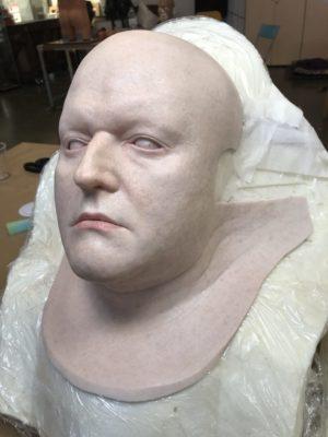 """Silicone mask for """"Les Chauvres Soires"""", Òpera de Lausanne 2018"""