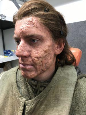 Knigtfall 2nd Season. Prosthetic application & make-up. Freelance Make-up artist for Davina Lamont. Prague 2019